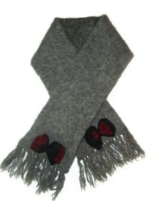 Slate Light Gray Womens Short Thick #Wool #Scarf by AccursedDelights, $15.00