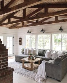 coffee table - Open Beam Ceiling