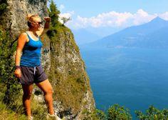 Hiking in Lake Como, Italy.