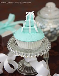 Stack of Tiffany & Co Boxes cupcake#JulepColorChallenge  #CreateYourJulepColor