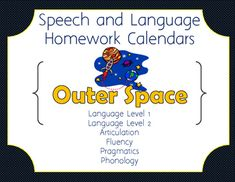 December Language Homework Calendar By Speech Activities By Miss