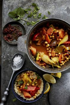 Moroccan vegetable tagine.