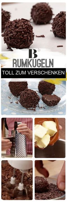 Mindestens so einfach wie lecker: Wie von Zauberhand entsteht aus die… Rum balls. At least as simple as delicious: As if by magic, these four simple ingredients make this sweet chocolate classic with rum without baking or cooking. Rum Balls, Baking Recipes, Cake Recipes, Diet Recipes, German Cookies, Health Desserts, Chocolate Desserts, Food And Drink, Cupcakes