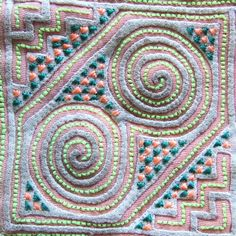 Hmong Embroidery - モン族民族衣装襟布