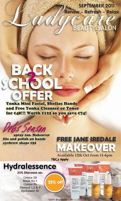 v1 Email Newsletter Design, Back 2 School, Cleanser, Eyebrows, Salons, Facial, Personal Care, Beauty, Eye Brows