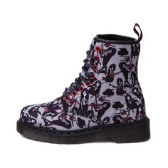 The new Adventure Time Castel Boot from Dr. Martens will be love at first bite! Marceline the Vampire Queen, from the animated television series, Adventure TIme, is presented on these killer Castel Boots, featuring allover graphic prints on a sturdy mesh upper with signature, Dr. Martens air-cushioned sole. <b>Available online at Journeys.com!</b>  <br><br><u>Features include</u>:<br> > Marceline the Vampire Queen themed colorway<br> > Allover graphic printed textile upper<br> > 8 eye lace…