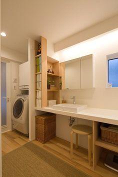 洗面化粧室(ゆったり暮らす子育て世代の家) - バス/トイレ事例|SUVACO(スバコ)