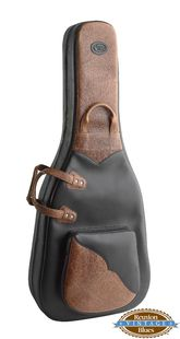 Reunion Blues - Product - Dreadnought Acoustic Guitar Bag, Black/Rawhide Leather (Vintage)