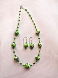 Polymer clay Jewlery  Polymer clay beads Green by UniquelyArdath
