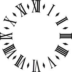 Clock Art, Diy Clock, Clock Tattoo Design, Tattoo Designs, Tattoo Sketches, Tattoo Drawings, Clock Face Printable, Clock Drawings, Face Template