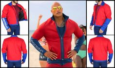Baywatch Mitch Buchannon Red Costume Red Costume, Costumes, Baywatch, Dwayne Johnson, Celebs, Celebrities, Shirt Style, Red And Blue, Sleeves