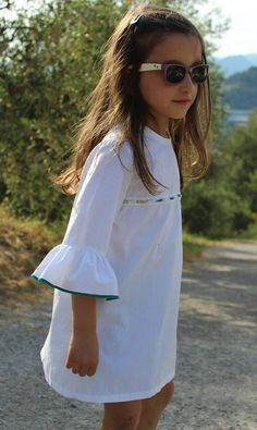 The Riviera dress - ethical fashion girls dresses - Made in Italy This dress comes in white pink blue and black and has beads