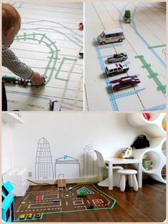 Washi tape ideas for the floor