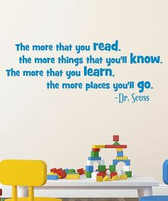 The more you read....