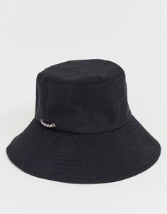 afbd8e4affda0f ASOS DESIGN plain fisherman bucket with tie | ASOS Bucket Hat, Hats,  Fashion,