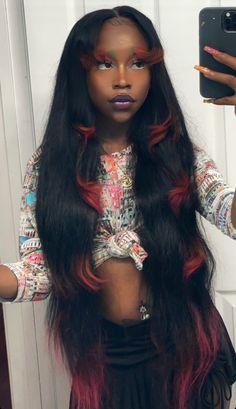 Baddie Hairstyles, Black Girls Hairstyles, Pretty Hairstyles, Braided Hairstyles, Dreadlock Hairstyles, Aesthetic Hair, Black Girl Aesthetic, Hair Inspo, Hair Inspiration