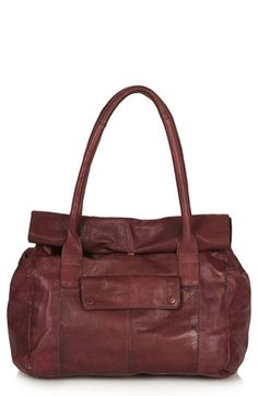 Topshop Roll Top Leather Tote Bag available at #Nordstrom