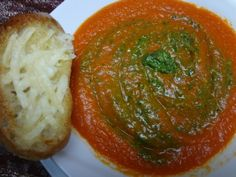 Thick & Creamy Tomato Basil Soup From Fresh Tomatoes