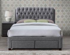 Valencia Grey Storage Bed Frame