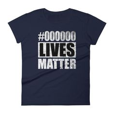 Women's Black Lives Matter t-shirt Black color code #000000