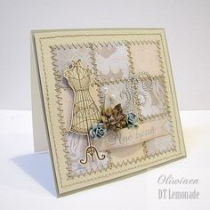 Sewing quilt card