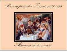 Renoir y su almuerzo acompañado de vino.