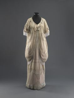 """Woman's outfit  Alexandria (?), Egypt, 1920s  Cotton tulle, silver tinsel embroidery   Purchased through the gift of Dr. Willy and Charlotte Reber, Valbella, Switzerland  """"Dress Codes: Revealing the Jewish Wardrobe"""" - See more at: http://europeanafashion.tumblr.com/post/85202073410/womans-outfit-alexandria-egypt-1920s#sthash.qgun2ioo.dpuf"""