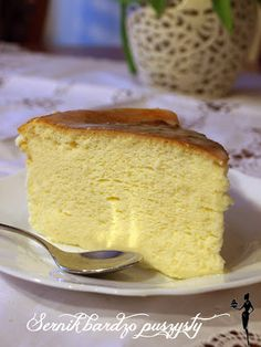 pysznie i dietetycznie!: Sernik bardzo puszysty Polish Desserts, Polish Recipes, Sweet Desserts, Sweet Recipes, Cake Recipes, Cakes And More, Vanilla Cake, Cheesecake, Food And Drink