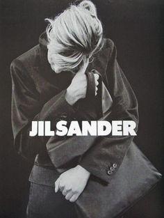 linda evangelista by peter lindbergh for jil sander fall winter 1994/95 ad campaign