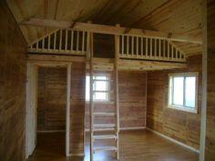 Interior of 240 sq foot tiny home. Love.