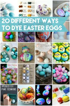 From Kool-Aid and melted crayons to natural dyes and shaving cream, here are 20 different ways to dye Easter eggs.