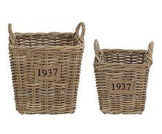 Set de 2 cestas Natural