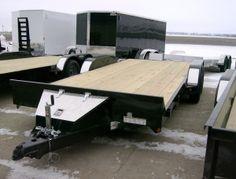 """2012 Rice 82"""" x 18' Steel Magnum Flatbed Car Hauler Trailer"""