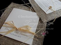 Outback Wedding Invitations with burlap or by InvitationsbyTango, $9.95