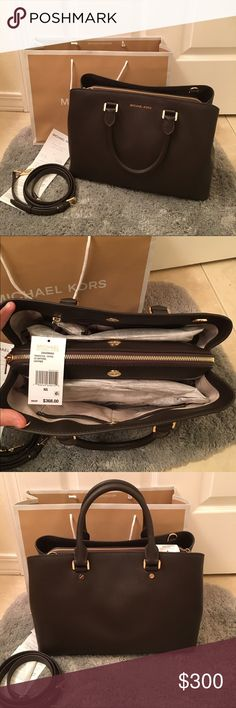 NWT MICHAEL KORS LARGE SAVANNAH SATCHEL 100% authentic!!! Brand new with tags, includes dust bag. Original price $368 plus taxes.                   PRICE IS FIRM, NO TRADES! Michael Kors Bags Satchels