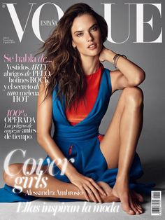 Alessandra Ambrosio - Vogue Magazine Cover [Spain] (November 2014)