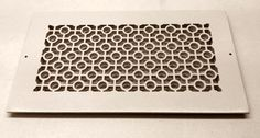 Eco-friendly resin decorative wall and ceiling vent cover in chic cosmopolitan design. Easy do-it-yourself installation makes upgrading your home décor practically effortless.