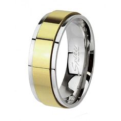 Classic two-tone wedding band for men