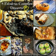 8 Fabulous campfire desserts for more camping fun! @dailyholidayblg  #camping