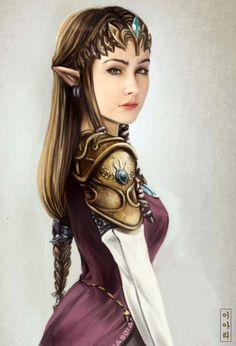 realistic and serious princess Zelda by ~Ari-Sang