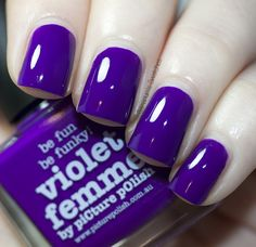 piCture pOlish Violet Femme mani creation by Samarium's Swatches! OMG