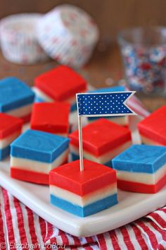 Flag Fudge - easy 3-layer fudge for the Fourth of July! | From candy.about.com