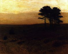 Charles Warren Eaton, American Tonalist, Evening In Connecticut, oil on canvas