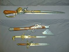 Various Blade/Gun combos - French Privateer 1700s