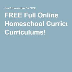 FREE Full Online Homeschool Curriculums!
