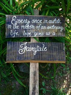 Rustic wedding sign personalized Every Once In by SawmillCreations, $39.00