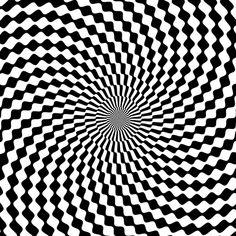 spiraling checkered design