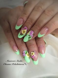 Oksana Pchelintseva - Photo from the album Purple Nail Art, Green Nails, Fabulous Nails, Perfect Nails, Cute Nail Art, Cute Nails, Spring Nails, Summer Nails, Zebra Print Nails