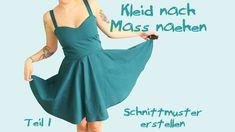 Kleid nach Maß nähen - Teil 1: Schnittmuster - Tutorial / Nähanleitung- ...
