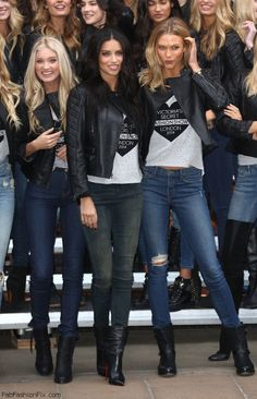 Victoria's Secret models Elsa Hosk, Adriana Lima and Karlie Kloss at the Bond Street Media Event and photo-call.